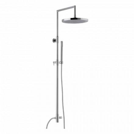 Coluna de duche em latão cromado com duche de mão abs made in Italy - Selvio