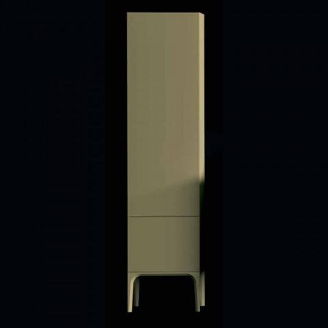 Amanda armário de banheiro de madeira com 2 portas, design moderno, feito na Itália