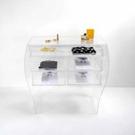 Cômoda de plexiglás transparente Billy, modern design