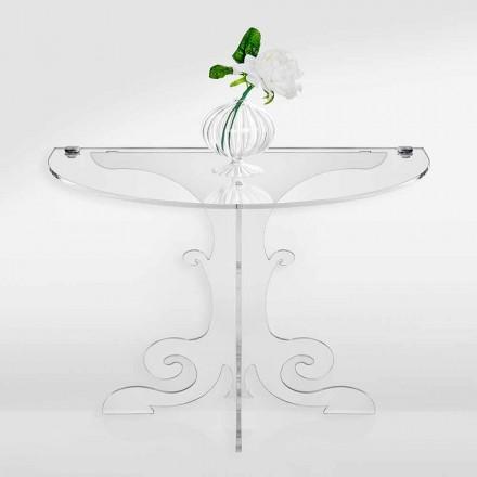 Mesa de cabeceira de design clássico em cristal acrílico e PMMA, Tiana