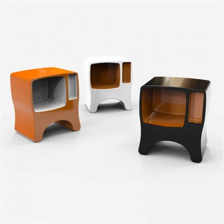 Mesa de cabeceira de design moderno Solid Surface Catodico, made in Italy