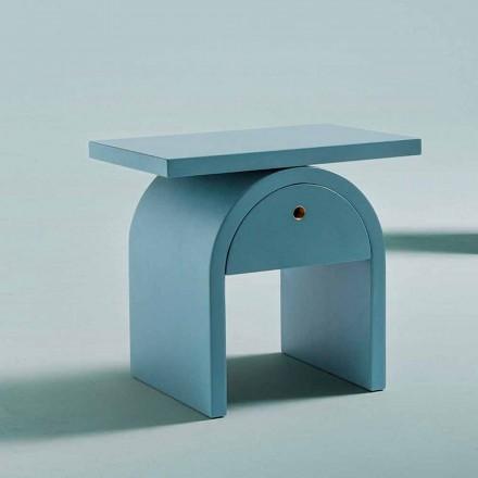 Mesa de cabeceira de design moderno em madeira colorida para o quarto - Arcom