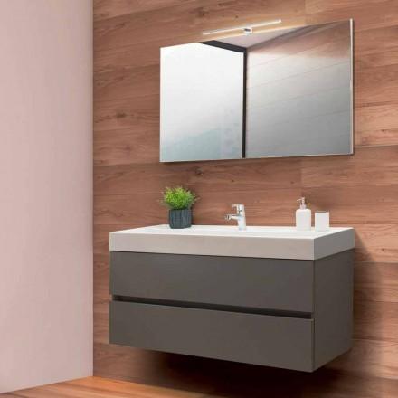 Armário de Banheiro 120 cm, Espelho e Lavatório - Becky