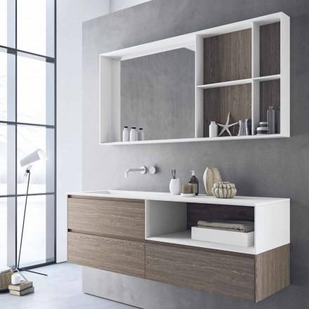 Composição de móveis de banheiro, design moderno e suspenso feito na Itália - Callisi8