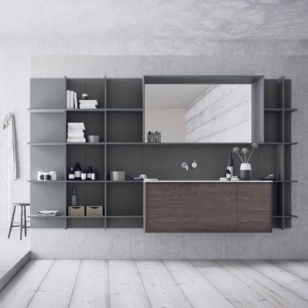 Composição de móveis de banheiro suspensos e modernos, móveis de design - Callisi12