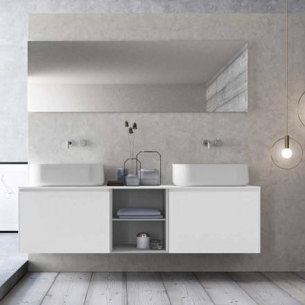 Composição de banheiro com suspensão de design moderno feito na Itália - Callisi14
