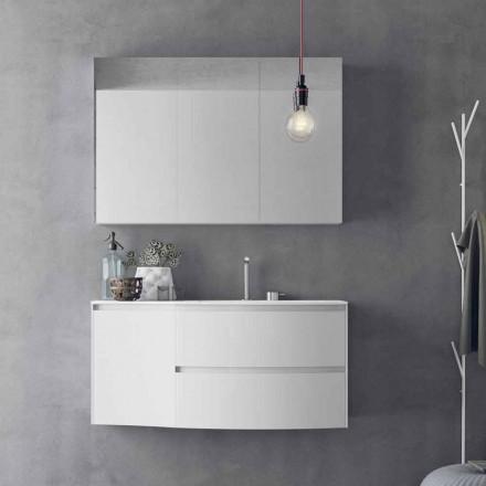 Composição de banheiro moderna e suspensa Made in Italy Design - Callisi 7