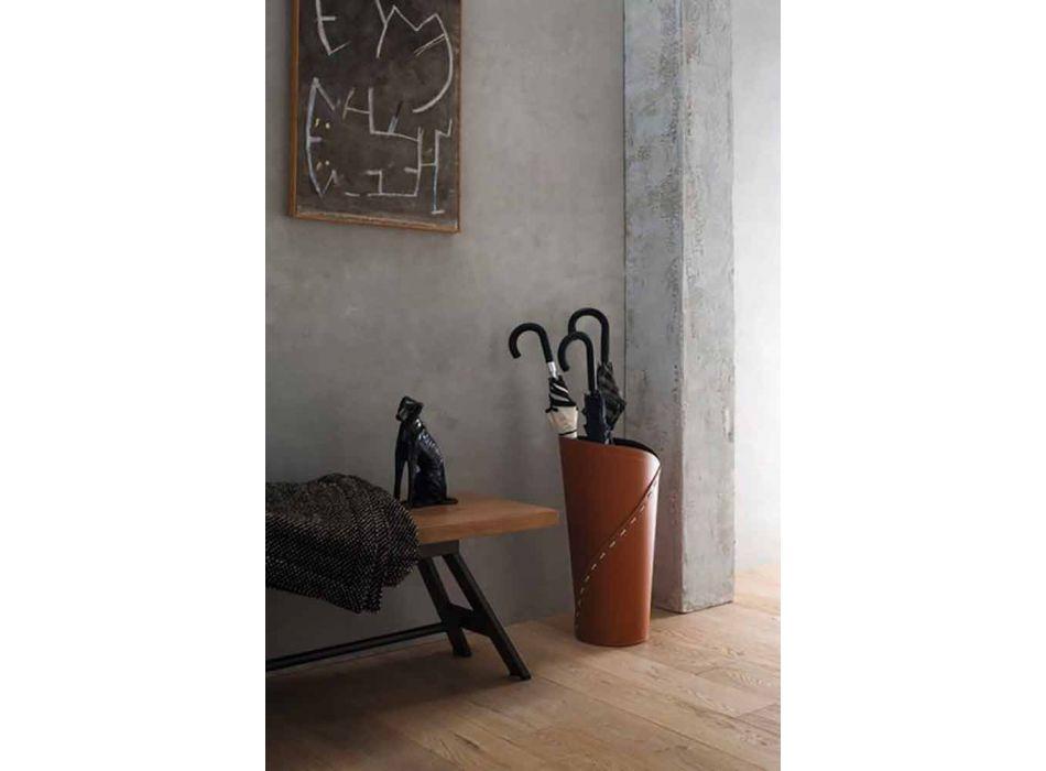 Composição do escritório de design moderno em couro fabricado na Itália - Giulio