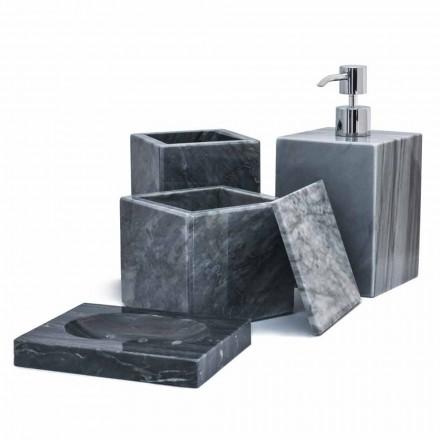 Composição dos acessórios para banheiros de mármore fabricados na Itália, 4 peças - Deano