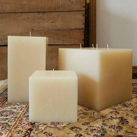 Composição de velas quadradas de cera fabricadas na Itália, 3 peças - Mondelle