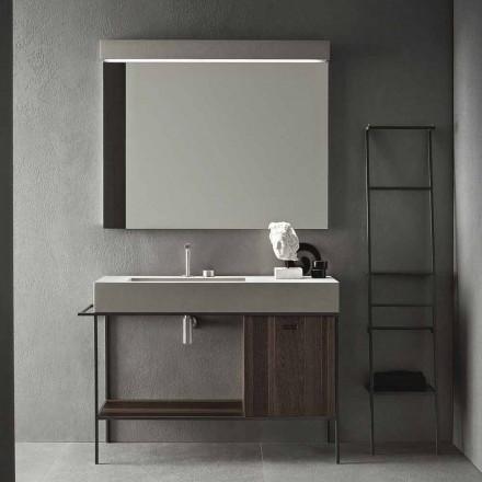 Composição de móveis artesanais para banheiros de design moderno no solo - Farart3