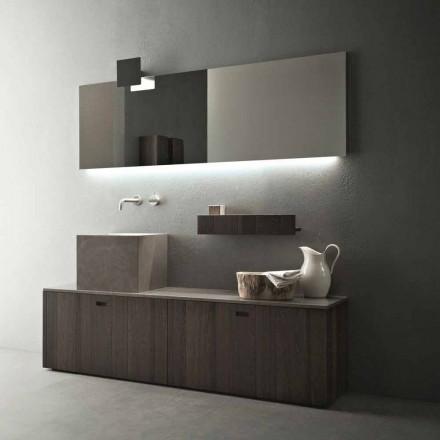 Composição de móveis de banheiro de piso de design moderno - Farart1