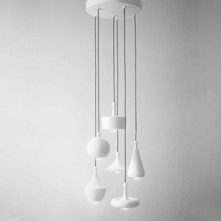 Lâmpadas design suspensão de composição - Lustrini Aldo Bernardi