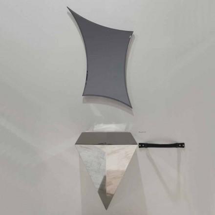 Composição de móveis de casa de banho suspensa moderna feita na Itália Venezia