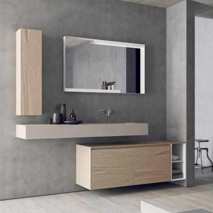 Composição de móveis de banheiro modernos e suspensos, Made in Italy Design - Callisi1