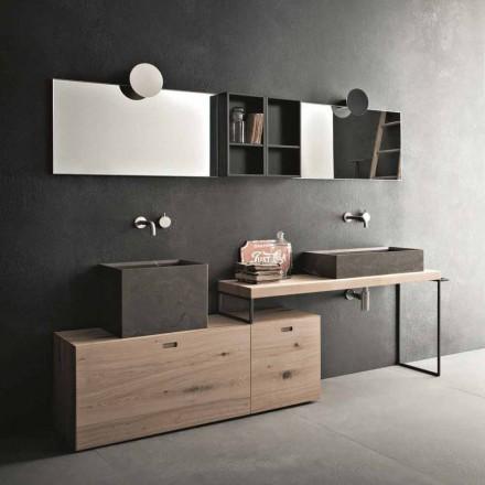 Composição de banheiro moderno com móveis de design feito na Itália - Farart6