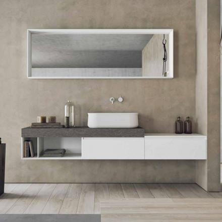 Composição Moderna e Suspensa de Móveis de Banheiro Design - Callisi2