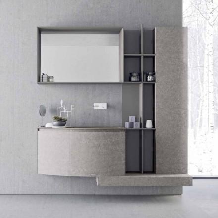 Composição de banheiro, suspensão de design italiano moderno - Callisi10