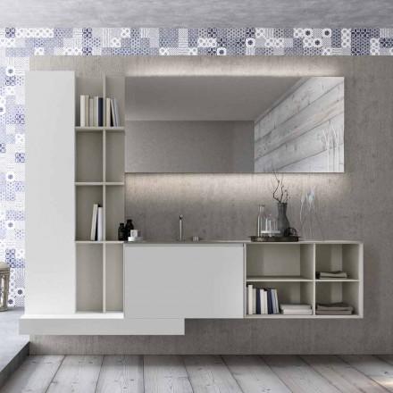 Composição de móveis de banheiro suspenso com design moderno feito na Itália - Callisi15
