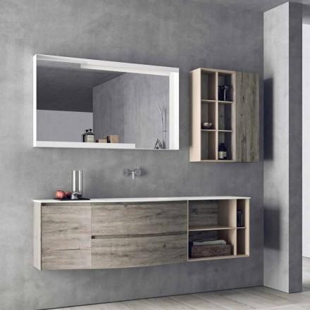 Composição de design suspenso, móveis de banheiro de design moderno - Callisi5