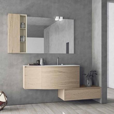 Composição Suspensa e Moderna para Banheiro, Made in Italy Design - Callisi4