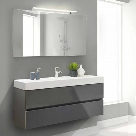 Armário de Banheiro 140 cm, Lavatório e Espelho - Becky