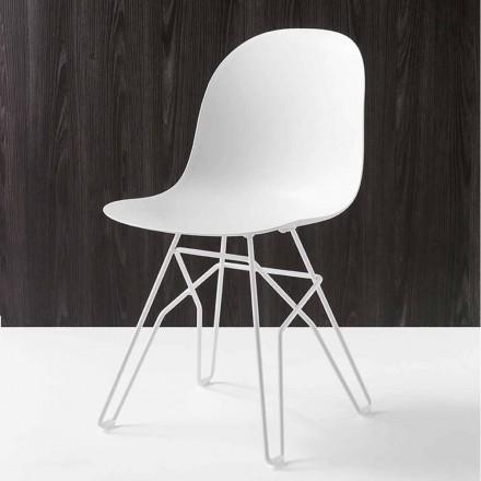 Cadeira moderna Connubia Calligaris Academy, conjunto de 2, fabricado na Itália