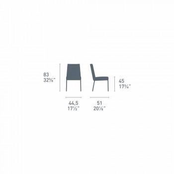 Cadeira de design básico Connubia Calligaris Academy em madeira maciça, 2 peças