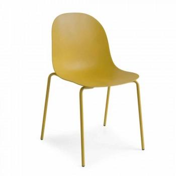 Cadeira de polipropileno design Connubia Calligaris Academy, 2 peças