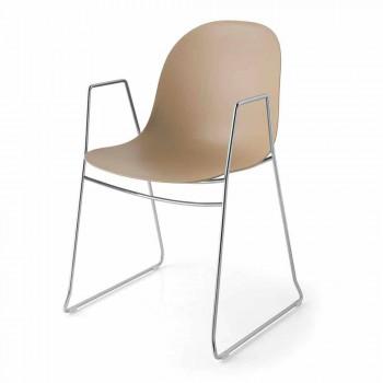 Cadeira moderna Connubia Calligaris Academy em polipropileno, 2 peças