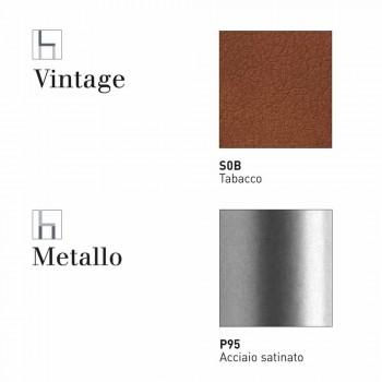 Connubia Calligaris Academy W fezes vintage design de couro falso, 2 peças