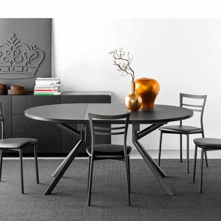 Mesa de jantar de cerâmica extensível Connubia Calligaris Giove, L120 / 165 cm