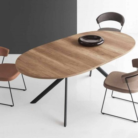 Mesa de madeira oval extensível Connubia Calligaris Giove, L140 / 190 cm