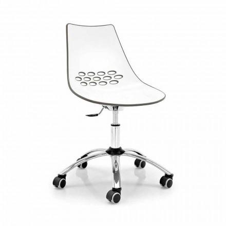 Cadeira giratória de escritório Connubia Calligaris Jam, conjunto de 2, design moderno