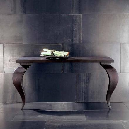 Mesa de console de luxo Tino em madeira maciça 150x50 cm, fabricada na Itália