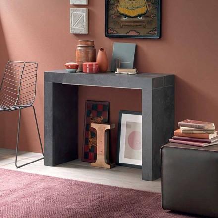 Consola de mesa extensível até 290 cm com tampo de madeira Made in Italy - Seregno