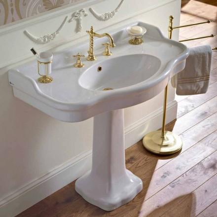 Console de banheiro de cerâmica vintage em Colonna, fabricado na Itália - Paulina