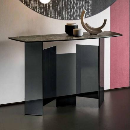 Sala de estar design consolada em cerâmica e vidro fabricada na Itália - Aleatória