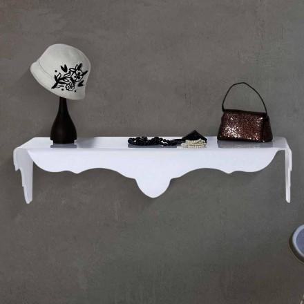 Consola de parede fixa com design moderno Bianca, cor branca