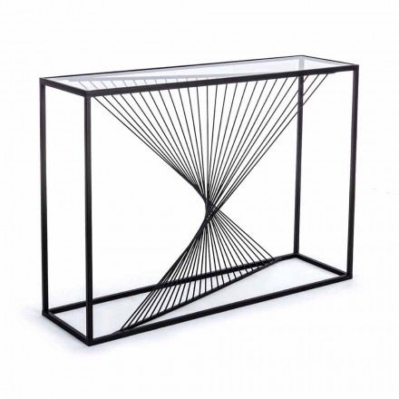 Console em Aço e Vidro Design Moderno Espiral Original - Sasuke