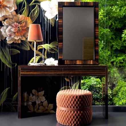 Console de madeira de ébano de design moderno Grilli Zarafa 100% made in Italy