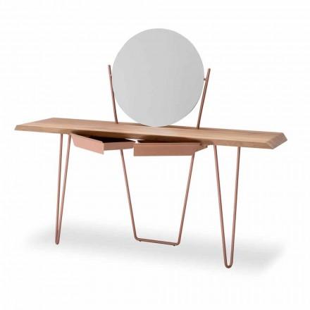 Console moderno de madeira e metal fabricado na Itália - Coseno Plus