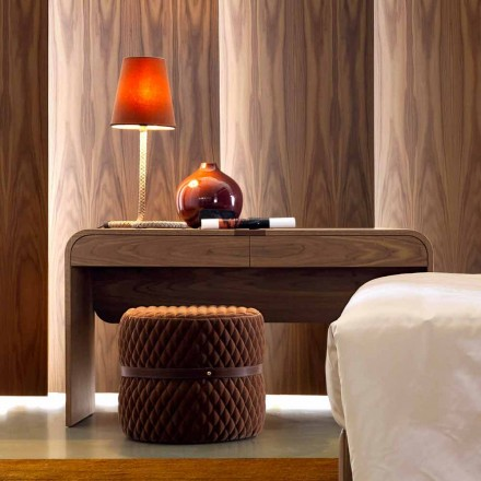 Mesa de console de madeira maciça de design moderno Grilli York feita na Itália