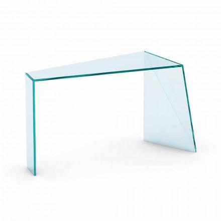 Consolador de entrada moderno em vidro extraclear fabricado na Itália - Rosalia