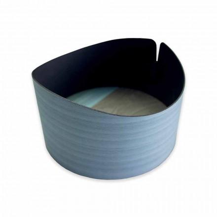 Caixa circular moderna em madeira real fabricada na Itália - Stan