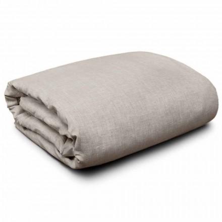 Capa de edredon em linho natural para camas king-size, individuais e de tamanho integral Made in Italy - Blessy