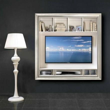 Mirko suporte de TV de plasma de parede, em madeira, produzido na Itália