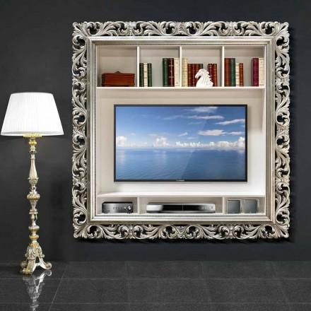 Quadro de parede de TV feito à mão de madeira, produzido 100% na Itália, Mario