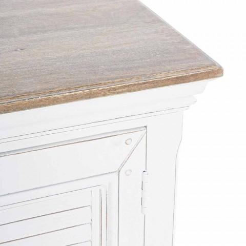 Aparador com Estrutura em Branco Mango Wood Classic Design - Baffy