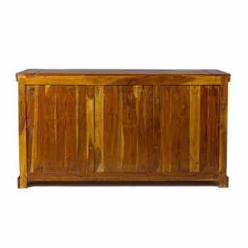 Aparador de design clássico em madeira sólida de acácia com acabamento rústico - Malásia